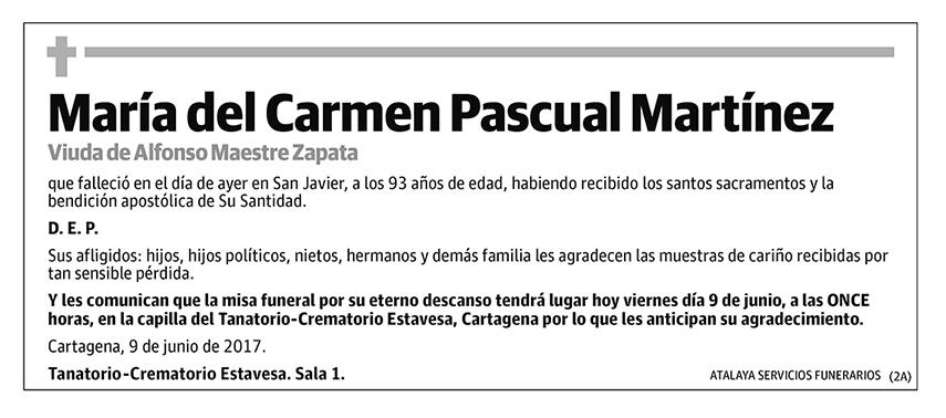 María del Carmen Pascual Martínez