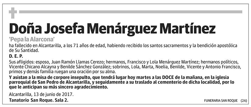 Josefa Menárguez Martínez