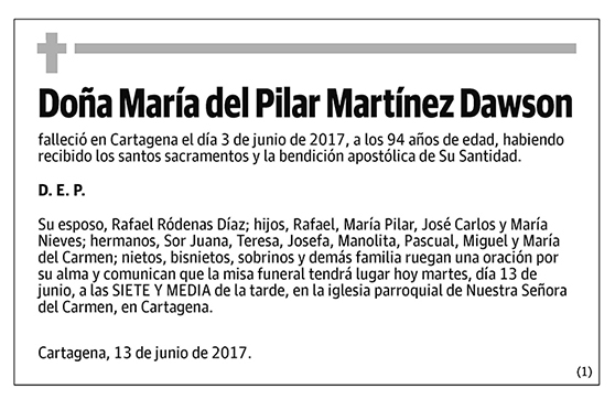 María del Pilar Martínez Dawson