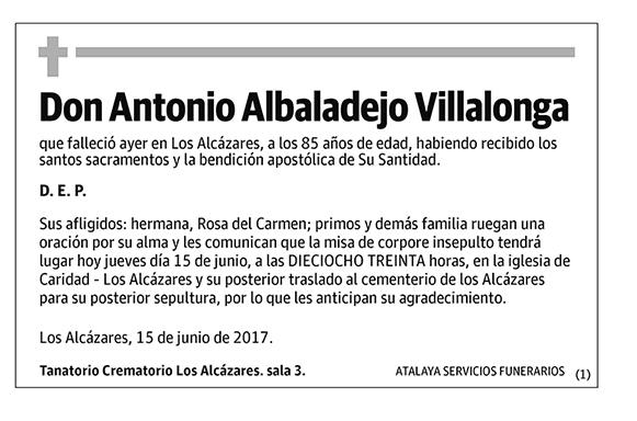 Antonio Albaladejo Villalonga