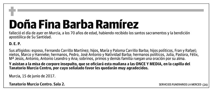 Fina Barba Ramírez
