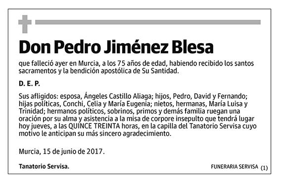 Pedro Jiménez Blesa