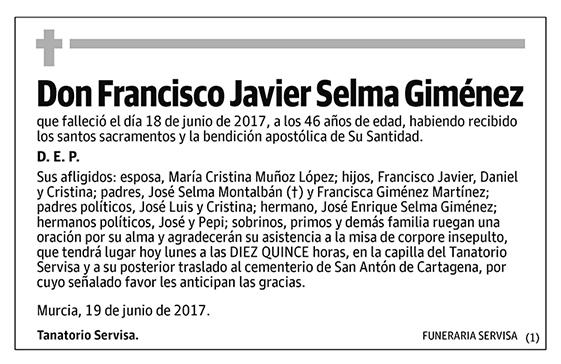 Francisco Javier Selma Giménez