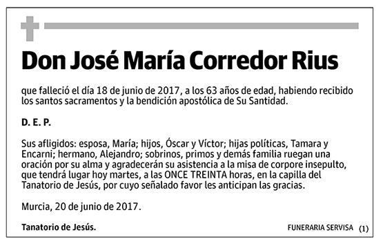José María Corredor Rius