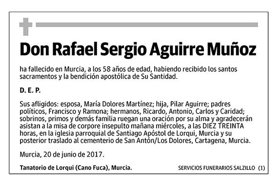 Rafael Sergio Aguirre Muñoz