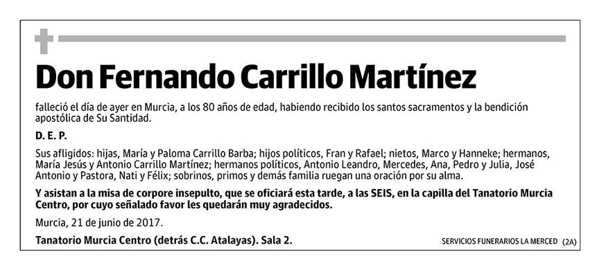 Fernando Carrillo Martínez