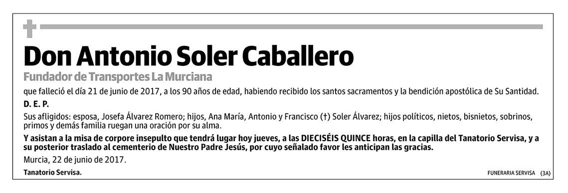 Antonio Soler Caballero