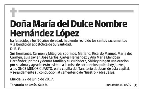 María del Dulce Nombre Hernández López