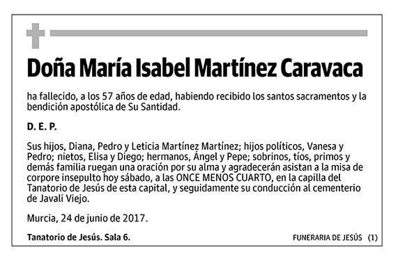 María Isabel Martínez Caravaca