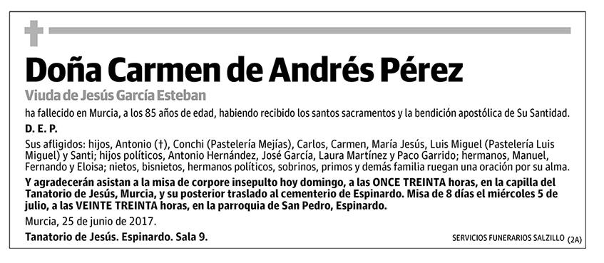 Carmen de Andrés Pérez