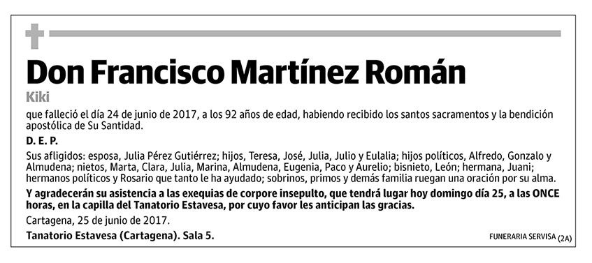 Francisco Martínez Román