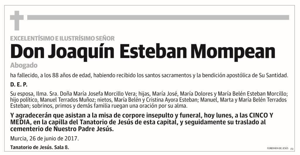 Joaquín Esteban Mompean