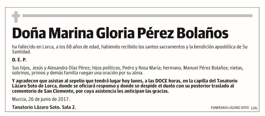 Marina Gloria Pérez Bolaños