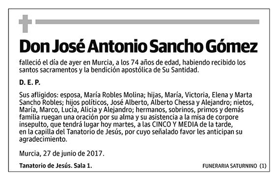 José Antonio Sancho Gómez