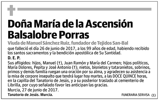 María de la Ascensión Balsalobre Porras