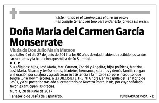 María del Carmen García Monserrate