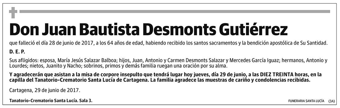 Juan Bautista Desmonts Guitiérrez
