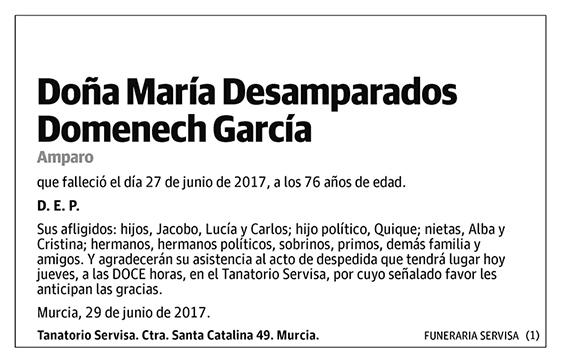 María Desamparados Domenech García