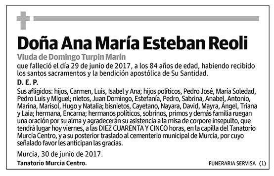 Ana María Esteban Reoli