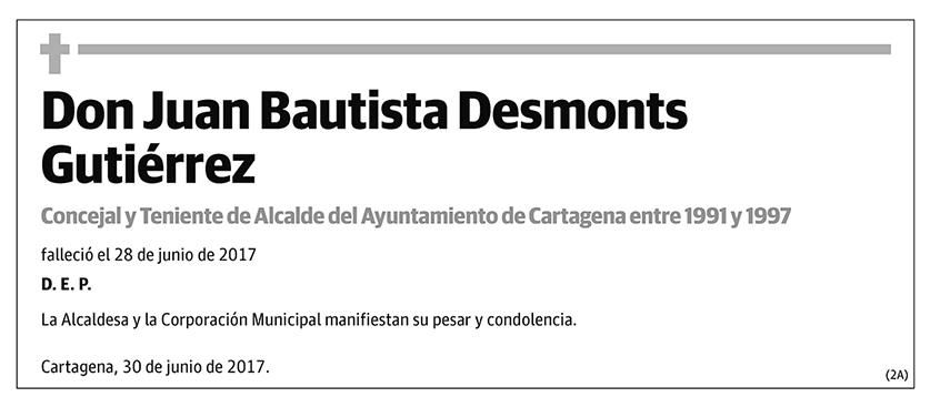 Juan Bautista Desmonts Gutiérrez