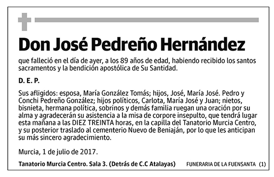 José Pedreño Hernández