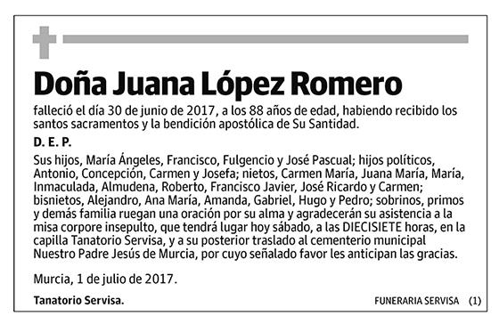Juana López Romero