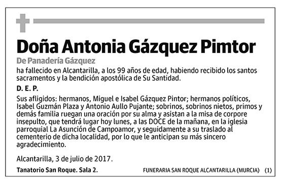 Antonia Gázquez Pimtor