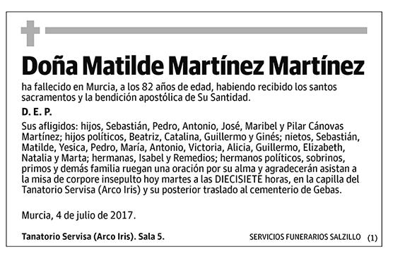 Matilde Martínez Martínez