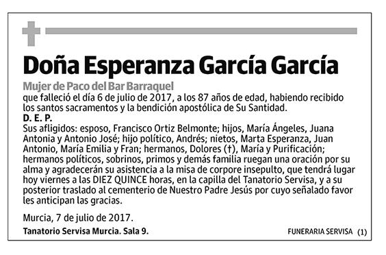 Esperanza García García