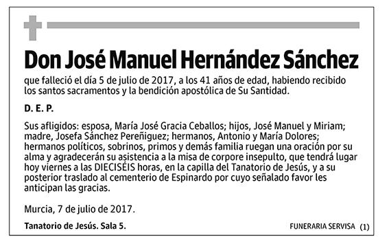José Manuel Hernández Sánchez