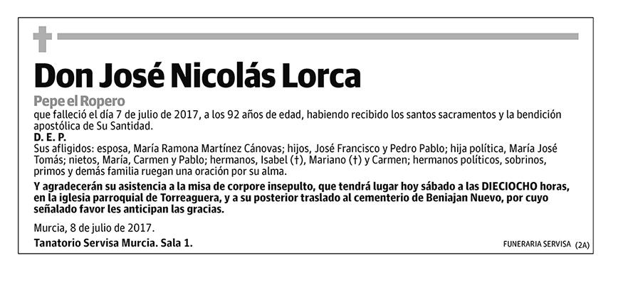 José Nicolás Lorca
