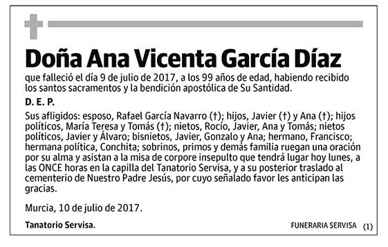 Ana Vicenta García Díaz