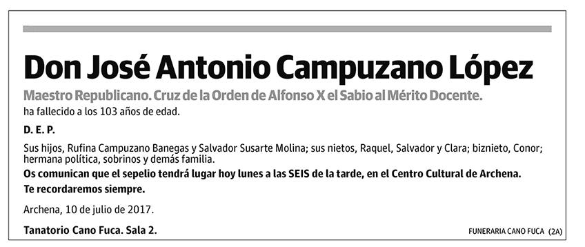 José Antonio Campuzano López