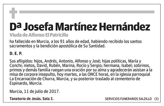 Josefa Martínez Hernández