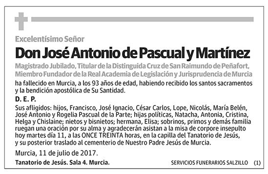 José Antonio de Pascual y Martínez