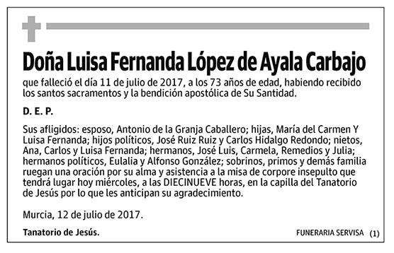 Luisa Fernanda López de Ayala carbajo