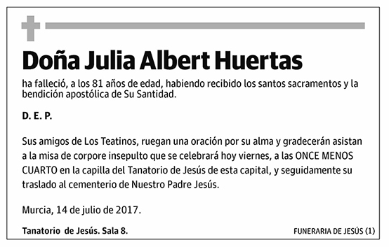 Julia Albert Huertas