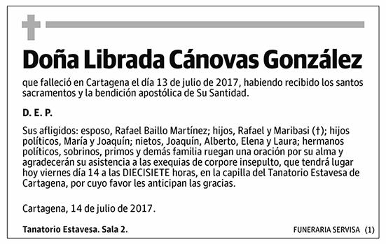 Librada Cánovas González