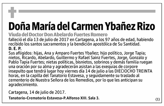 María del Carmen Ybañez Rizo