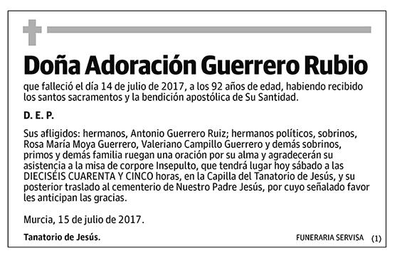 Adoración Guerrero Rubio