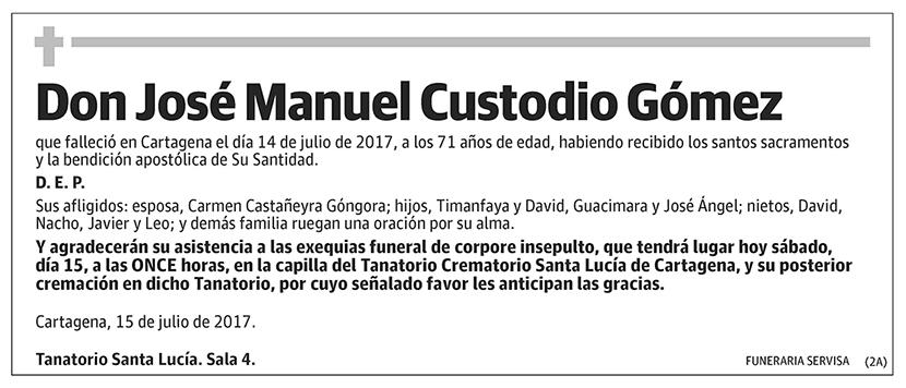 José Manuel Custodio Gómez