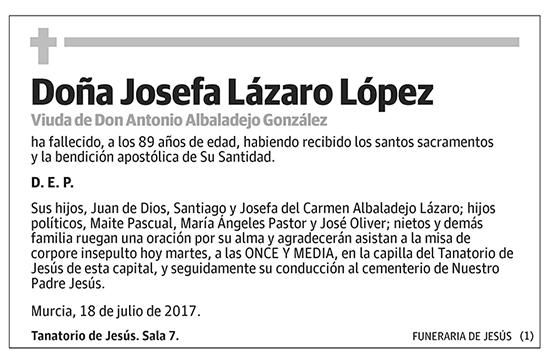 Josefa Lázaro López