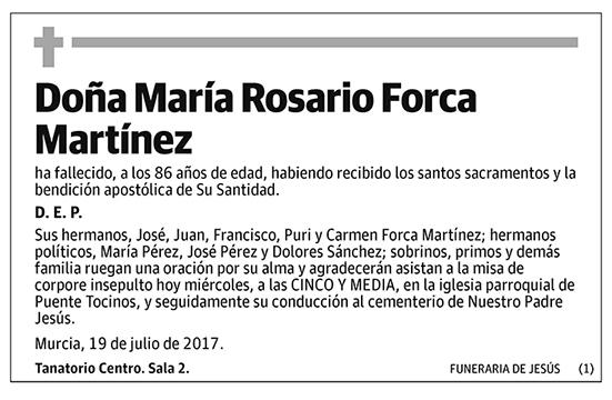 María Rosario Forca Martínez