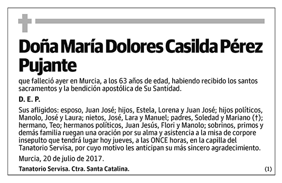 María Dolores Casilda Pérez Pujante