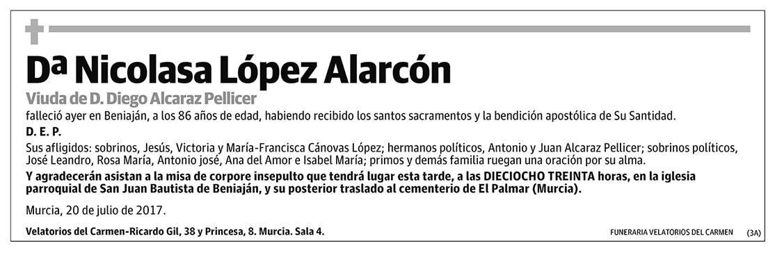 Nicolasa López Alarcón