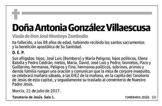 Antonia González Villaescusa