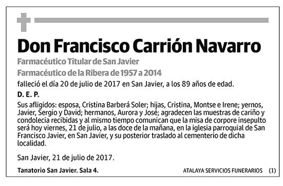 Francisco Carrión Navarro