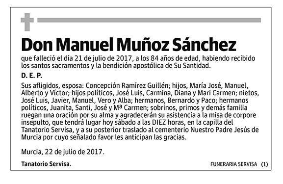 Manuel Muñoz Sánchez