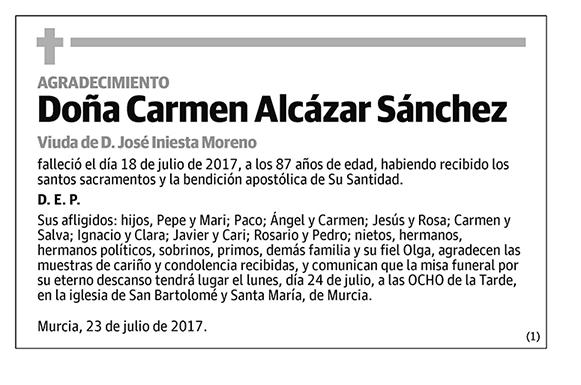 Carmen Alcázar Sánchez