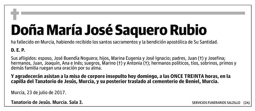 María José Saquero Rubio